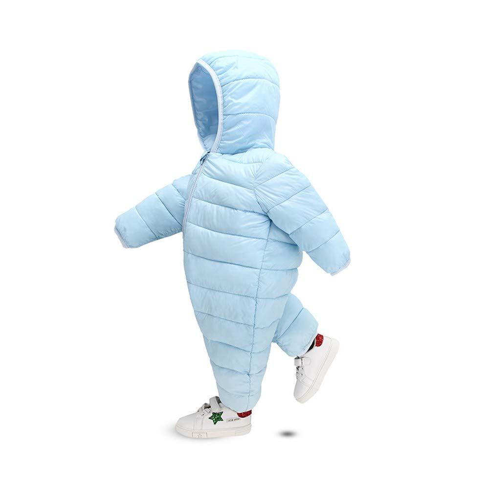 Fiaya Baby Cute Frosty Freeze Bunting Winter Thick Cotton Warm Zipper Long Sleeve Hood Down Snowsuit Jumpsuit