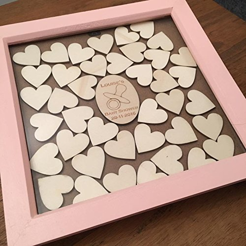 Baby Shower Guestbook Drop Top Box, Personalised Guest Book Alternative