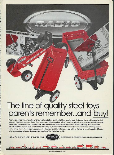 arents remember & buy Radio Flyer Wagons pedal cars ad 1982 ()