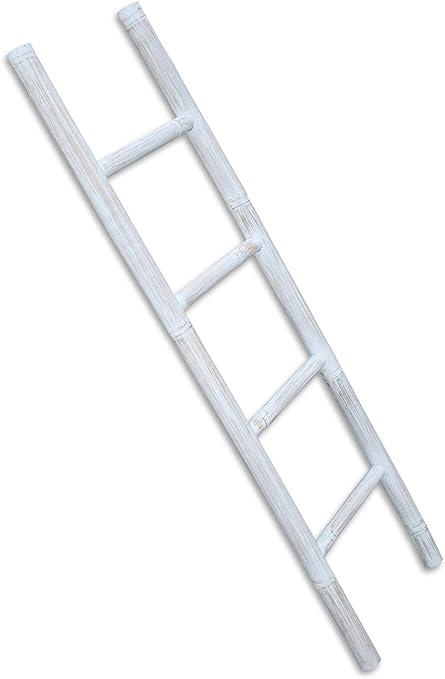 LioLiving®, Toallero/escalera de bambú decorativa, blanqueada, 150x41cm (#400040): Amazon.es: Hogar