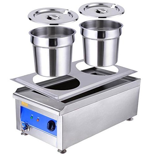 Commercial Countertop Steamer ~ Chimaera commercial dual countertop food warmer soup