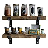 """Reclaimed Wood Accent Shelves Rustic Industrial - Amish Handcrafted in Lancaster County, PA - Set of Two 