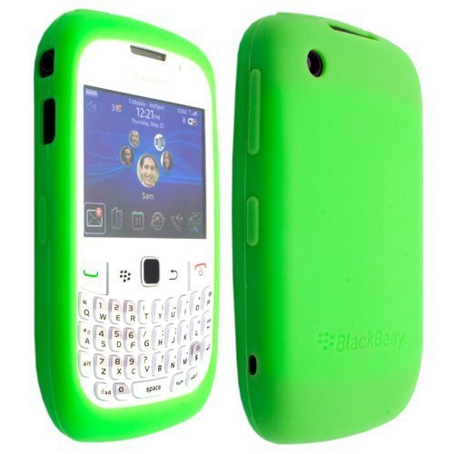 Light Green Silicone Soft Skin Case Cover for RIM Blackberry Curve 2 8520 8530