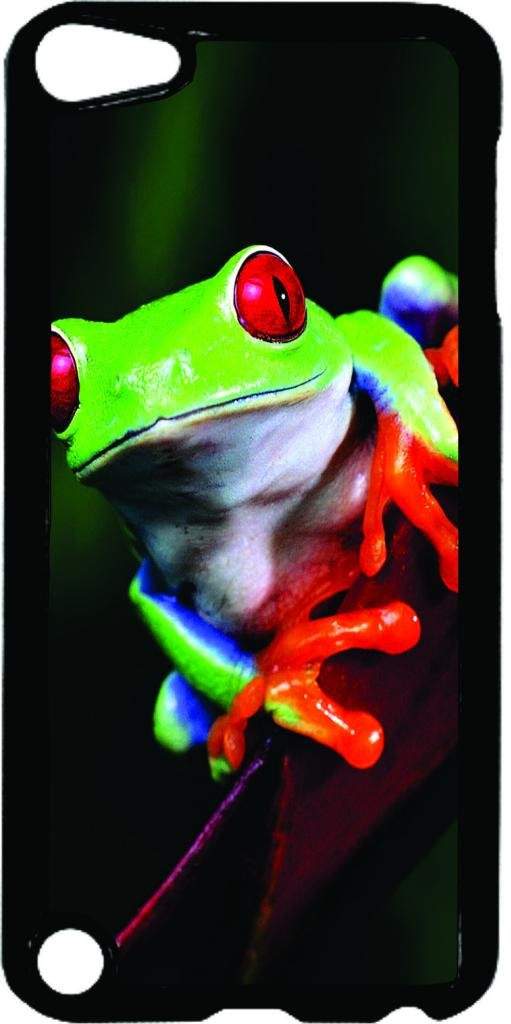 Tree Frog- Case for the Apple Ipod 5th Generation-Hard Black Plastic