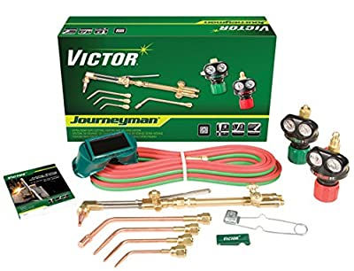 Victor Technologies 0384-2036 Journeyman Heavy Duty Cutting System, Acetylene Gas Service, ESS4-15-510 Fuel Gas Regulator