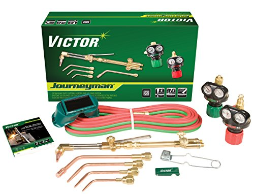 Victor 0384-2036 Journeyman Heavy Duty Cutting System, Acetylene Gas Service, ESS4-15-510 Fuel Gas Regulator by ESAB