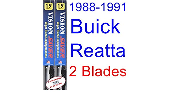 Amazon.com: 1988-1991 Buick Reatta Replacement Wiper Blade Set/Kit (Set of 2 Blades) (Saver Automotive Products-Vision Saver) (1989,1990): Automotive