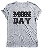MONDAY Crossed Out Funny Mens & Ladies Unisex Fit T-Shirt