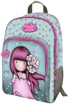 Mochila escolar compatible con Santoro Gorjuss London Blosson Cherry flores de cerezo + estuche 3 pisos + llavero girabrillo + paquete de 10 bolígrafos: Amazon.es: Equipaje