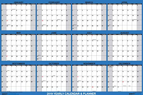 swiftglimpse 2019 wall calendar 24 x 36 yearly annual 12 month