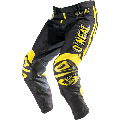 O'Neal Ultra Lite Limited Edition '70 Pants (Black/Yellow, Size 30) ()