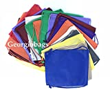 Value Pack- Set of 100 Assorted Mix Color Non-Woven Backpack,Drawstring Bags, Small Size Junior Cinch Packs