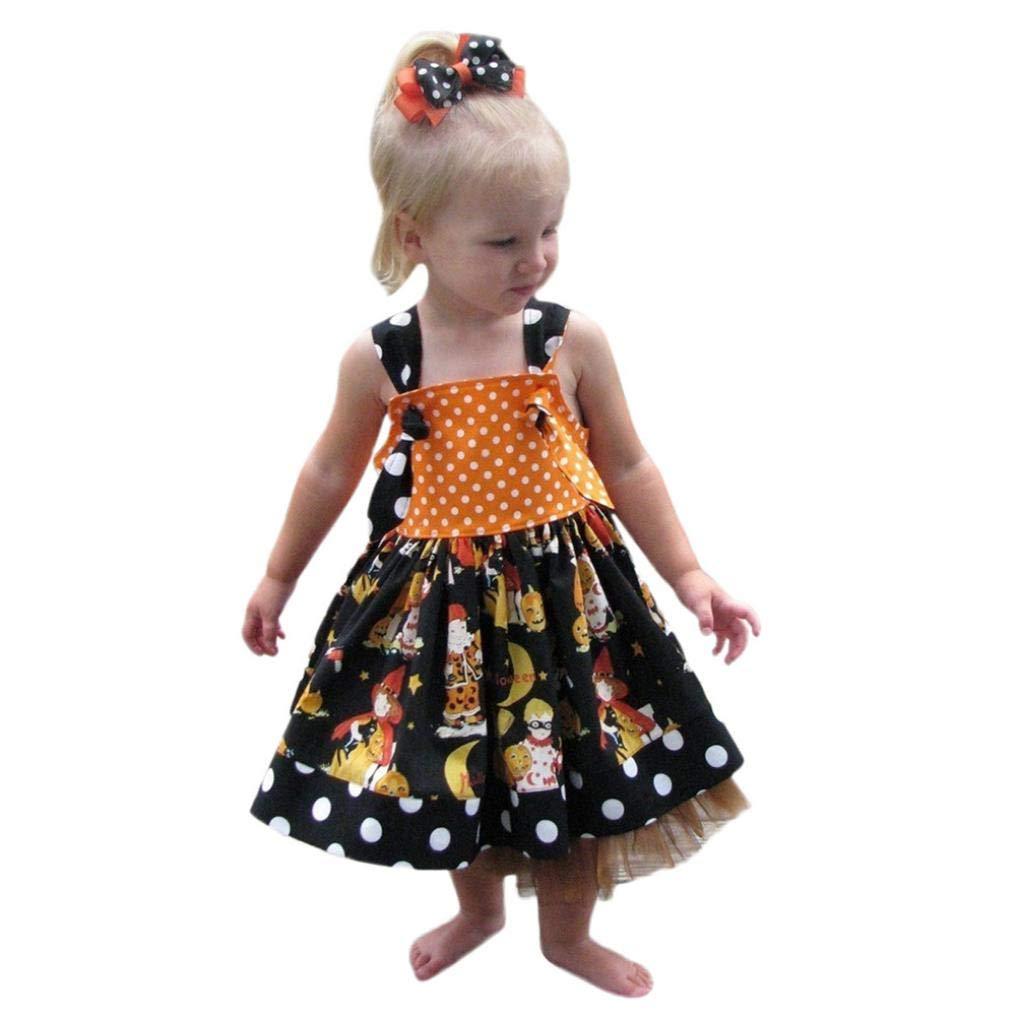 e9078d352ff1 Amazon.com: Zara Baby Girl Clothes Ariel Baby Clothes Godmother Baby Clothes  Infant Toddler Baby Girls Pumpkin Bow Party Dress Halloween Clothes Dresses  ...