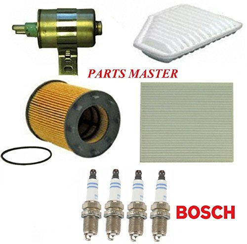 8USAUTO Tune Up Kit Air Cabin Oil Fuel Filters Spark Plug Fit PONTIAC G5 L4; 2.2L 2010