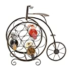 Deco 79 Woodland Imports Woodland Imports Antique High Wheel Bicycle 7 Bottle Wine Rack, Metal
