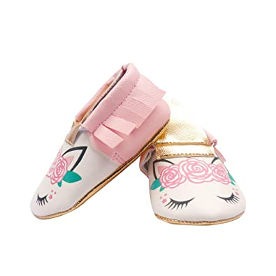 classic style of 2019 official site 2018 sneakers Baby Girl Marry Jane Flat Shoes Kid Girl's Unicorn Dress Shoes Anti-Slip  Soft Sole PU Leather for Infant Toddler