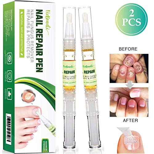 VieBeauti Fungus Stop Nail Repair Pen,Restores & Rehydrates Damaged Nails, Fingernail Fungus, Nail Fungus Remover, Fungus Nail Care on Toenails & Fingernails Strengthen [2-Piece-Set: Maximum Strength]