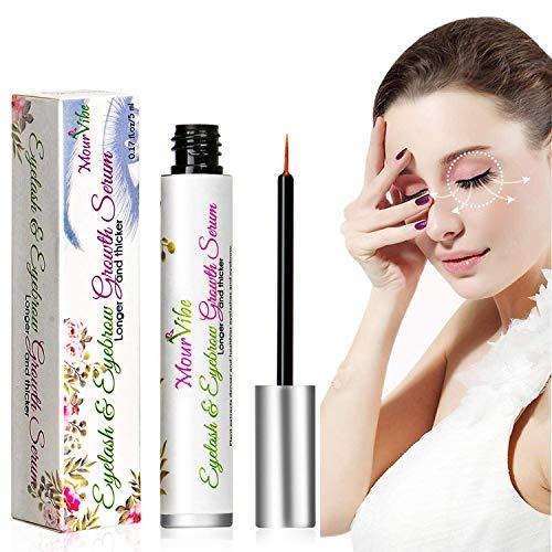 Eyelash Growth Serum - 100% Natural Lash Conditioner Boost Growth Serum,Lash & Eyebrow Enhancer Growth Serum for Long, Luscious Lashes and Eyebrows(0.17fl.oz)