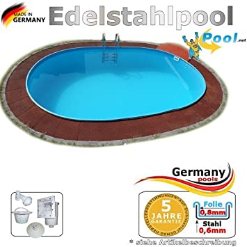 Acero inoxidable Pool 5,25 x 3,20 x 1,25 Piscina ovalada