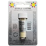 50 x Sugarflair Edible PEARL IVORY Lustre Dust Powder Food Colour for Cake Icing