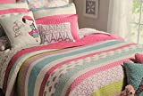 Cynthia Rowley TWIN Quilt with Sham and TWIN Sheet Set, J'Adore French Bicycles Eiffel Tower Theme