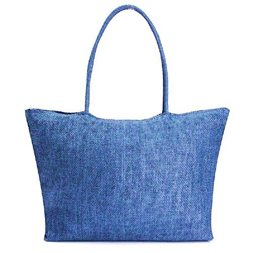 Canvas Infinite Ragazza Inception Blu Grande Paglia Pro Regalo Borsa Idea In Donna Capiente q5CqtXnw