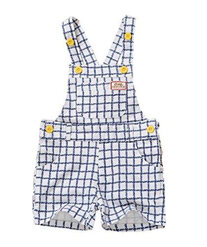 Kidscool Summer Baby Boys/Girls Cute Blue Adjustable Bib Cotton Short ()