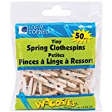 Loew-Cornell 1021192 Woodsies Tiny Spring Clothespins, 1-Inch, Natural, 50-Pack