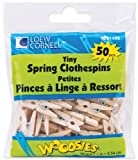 "Loew-Cornell 426931 1"" Simply Art Wood Tiny Spring Clothespins, Natural Beige"
