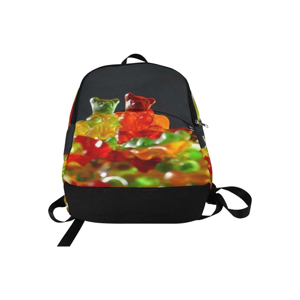 Gummibarchen Gummi Bears Fruit Gums Bear Sweetness Unique Custom Outdoor Shoulders Bag Fabric Backpack Multipurpose Daypacks For Adult