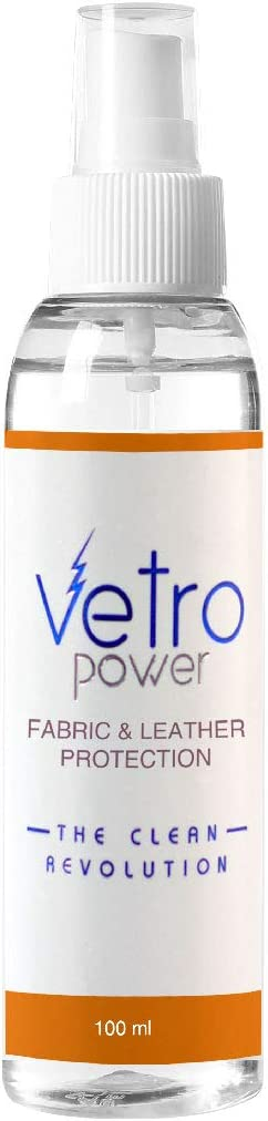 Vetro Power Fabric & Leather Protection Spray Nanotechnology Enabled Protective Coating for Fabric Leather & Textile Surfaces 100ml