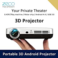 3D DLP 1080P Projector Full HD Proyectores Android 4.4 WiFi Bluetooth with USB HDMI AV 2000 Lumens for Home Theater Data Show Video