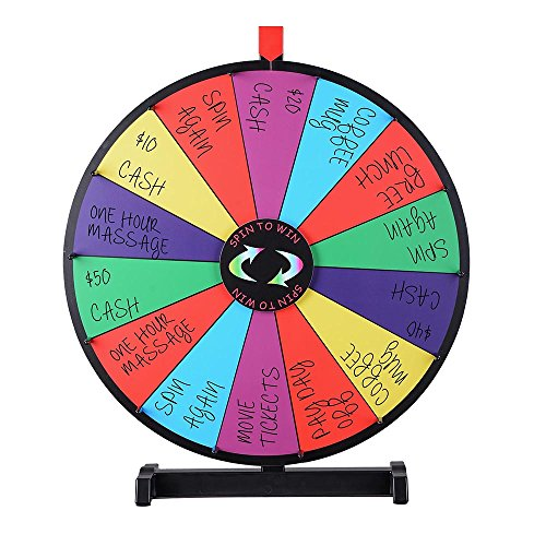 Winspin 24 Quot Tabletop Spinning Prize Wheel 14 Slots With
