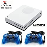 CXYP Family Game Console , 600 Retro Games Console with 2Pcs Joystick , Support CP1, CP2, NEOGEO, Arcade, GBA, MD,SFC (White)