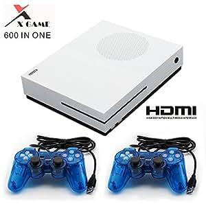 CHUANGXINYOUPIN Consola de Videojuegos Retro,HDMI Video Incorporado 600 Juegos clásicos con 2PCS Joysticks