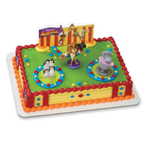 DecoPac Madagascar 3 Three Ring Circus DecoSet Cake Topper - Birthday Cake Madagascar