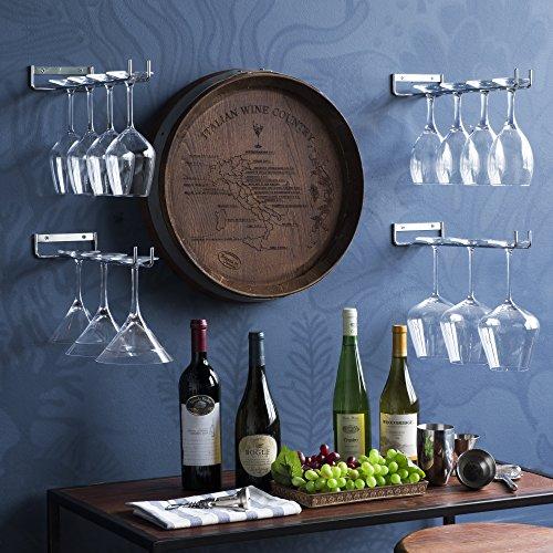 WALLNITURE Stemware Wine Glass Rack Wall Mount Steel Chrome Finish 15 Inch Set of 4 by Wallniture (Image #1)