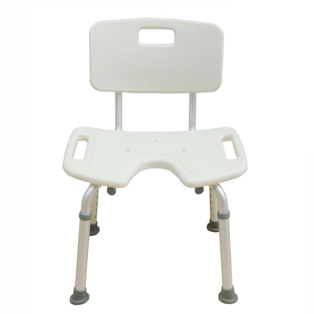 バスルームスツール妊娠中の女性バスルームチェア高齢者バススツールアルミ合金ノンスリップバスチェアUタイプウォッシュお尻の椅子 B07DMY2868