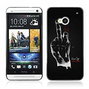 YOYOSHOP [Funny Hand Sign] HTC One M7 Case