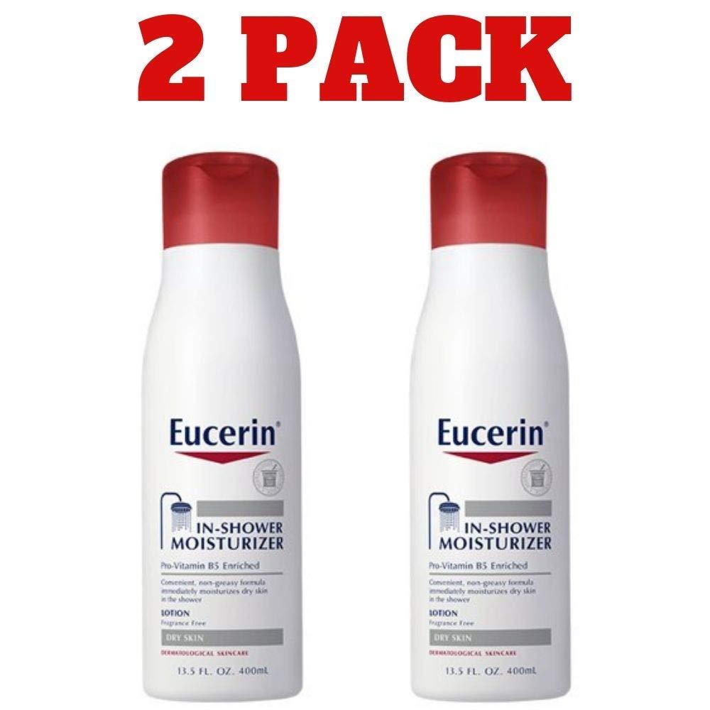 Eucerin In-Shower Body Lotion, 13.5 Ounce Per Bottle (2 Bottles) by Eucerin