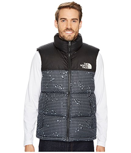 The North Face Novelty Nuptse Vest TNF Black Nightmoves Camo Print/TNF Black Men's Vest (Face Print Vest North The)
