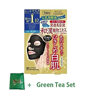 Kose Clear Turn Pore Black Face Mask - 1Box For 5pcs (Green Tea Set)