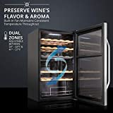 Ivation 33 Bottle Dual Zone Wine Cooler