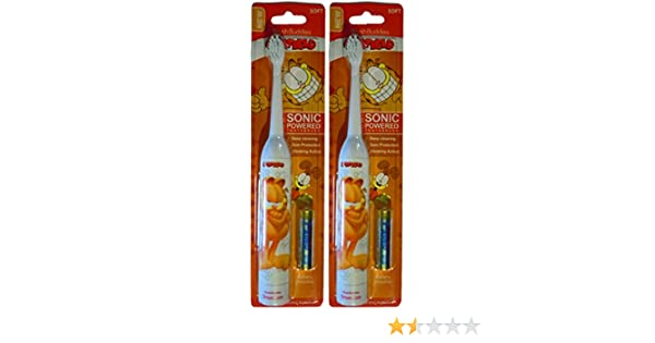 Amazon.com: Garfield Brush Buddies Sonic Powered Electric Toothbrush (2 Pack): Health & Personal Care