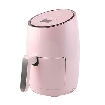 Freidora de aire Hogar Bajo en grasa para hornear Multifuncional Automático Inteligente Sin aceite Freidora eléctrica Freidora de gran capacidad (Color ...