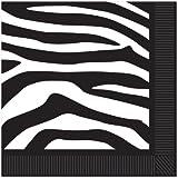 Zebra Print Beverage Napkins (2-Ply) Party Accessory  (1 count) (16/Pkg)