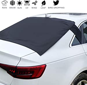 "Homiar Rear Windshield Snow Cover,57.1""x35.4"" Universal Weatherproof Windscreen Car Cover, Exterior Magnetic Ice Frost Dust Shield Guard with Flaps,Back Sun Shade Protector for Trucks,Vans"