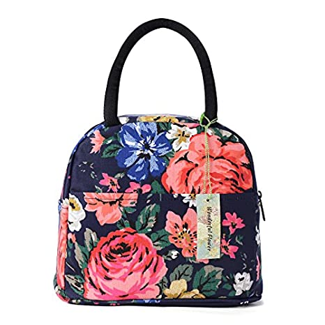 wonderful flower Insulated Lunch Box Cooler Bag lunch bag flower (002Multi) COMIN18JU077199