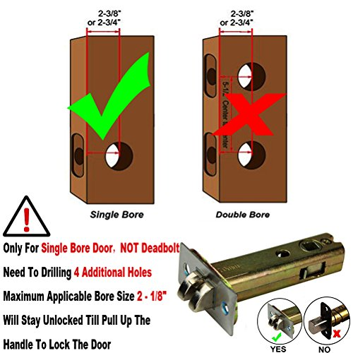 Right Handed Keyless Mechanical Door Lock Digital Code Security Keypad Entry Combination Door Handle Locks Stainless Steel 304 -NOT a Deadbolt and Only Fits Single Bore Door by MINGSUO (Image #6)