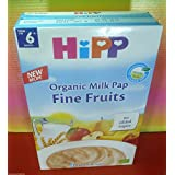 Hipp Fine Fruits Organic Milk Pap 250 g From 6th month